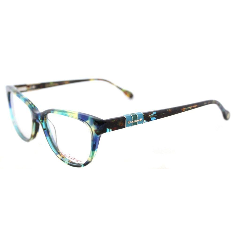 6b1818336f Lilly Pulitzer  Captiva  Aqua Havana Cat-Eye Glasses