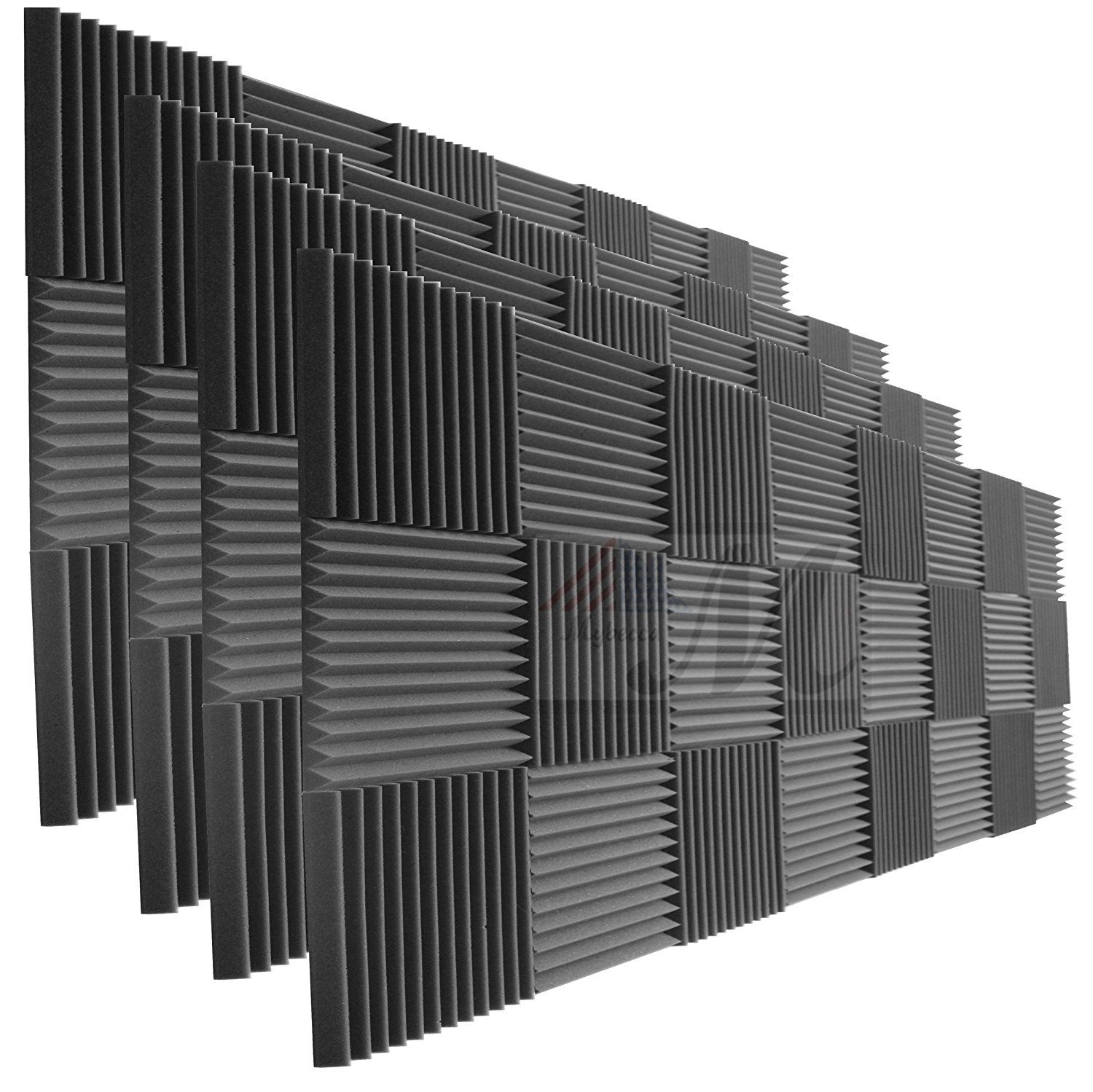 96 Pack Acoustic Panels Studio Foam Wedges 1 X 12 X 12 Studio Foam Acoustic Panels Recording Studio Furniture