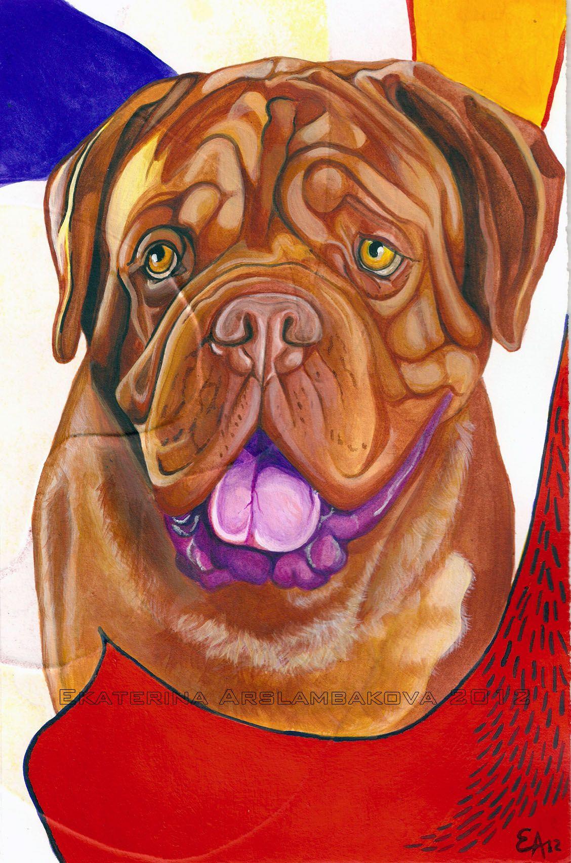 Atomic Pets Dog Art Dog Paintings French Mastiff
