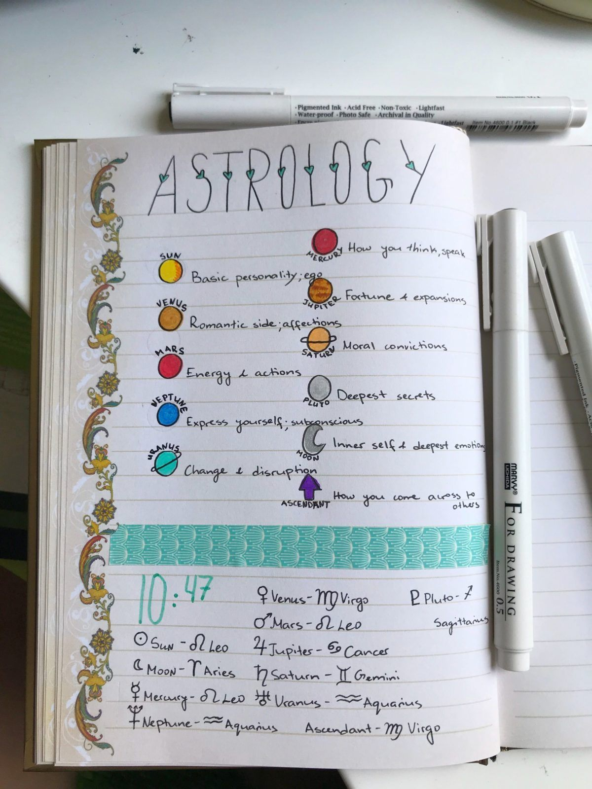 30 Astrology & Zodiac Layouts To Inspire Your Bullet Journal | ElizabethJournals
