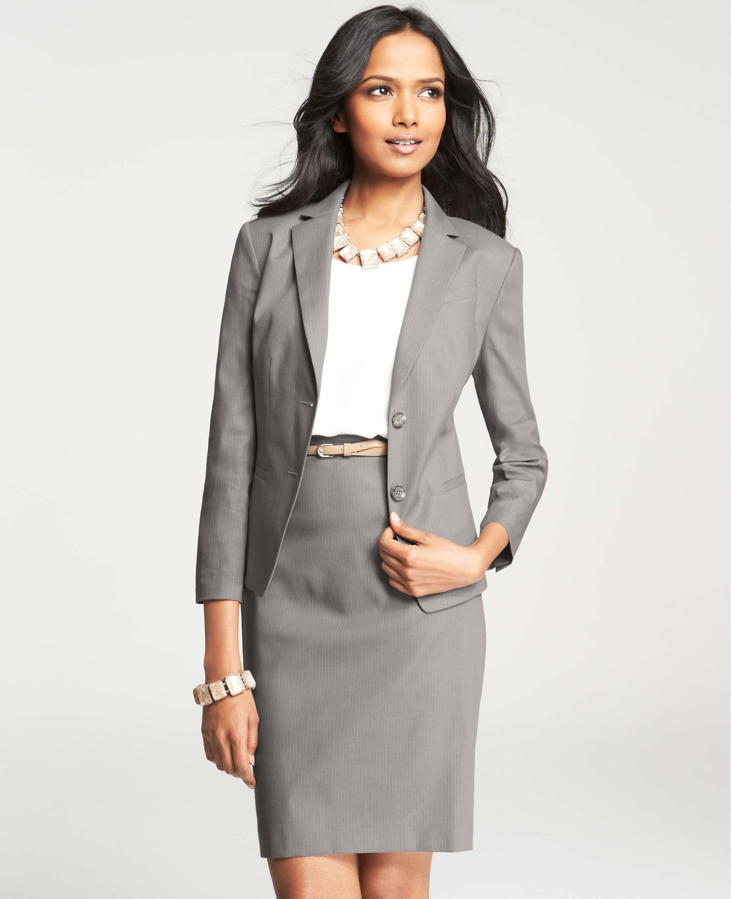 Pinstripe Stretch Cotton Jacket | Suits, Jackets and Cotton jacket