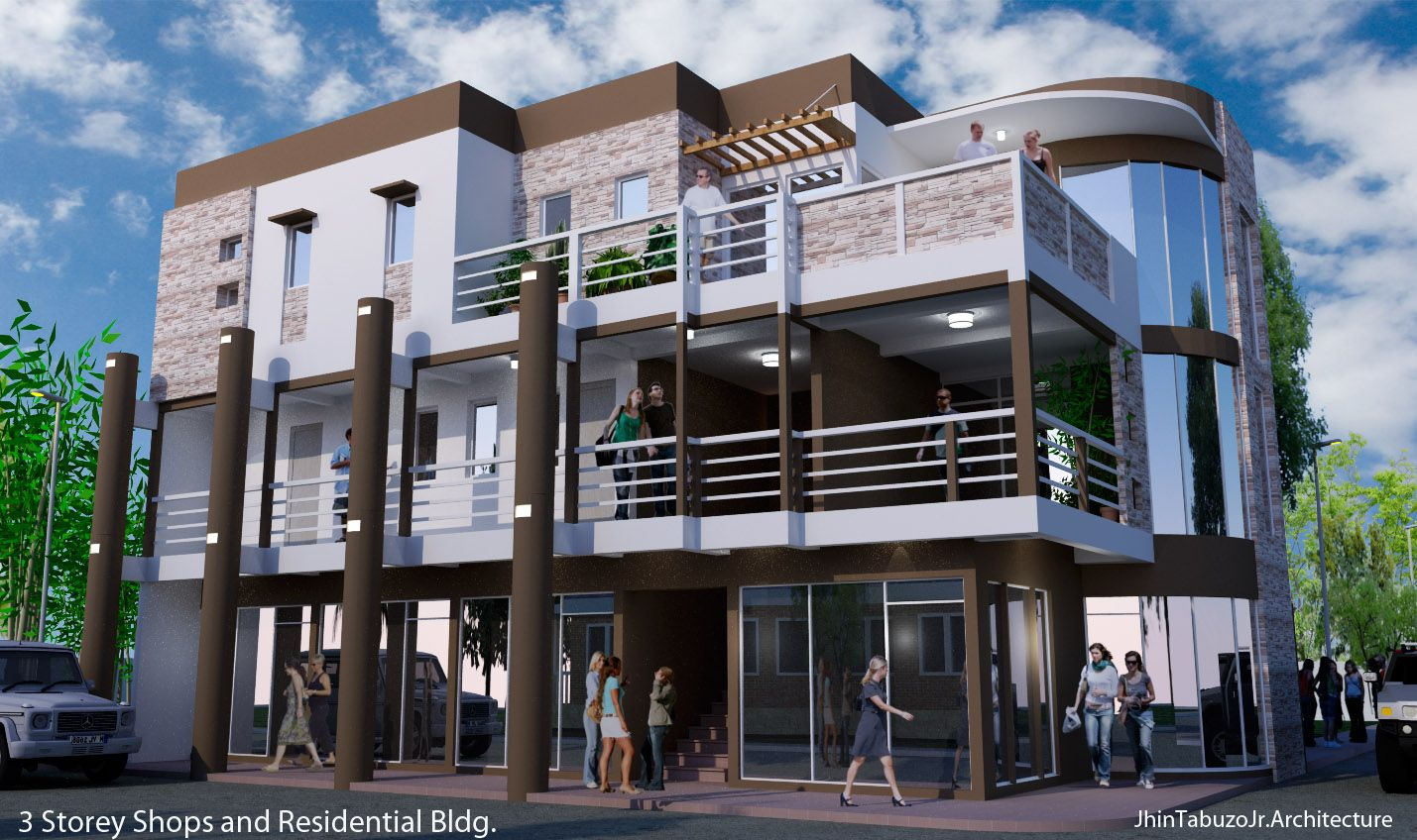 Modern commercial building design in the philippines for Commercial building plans