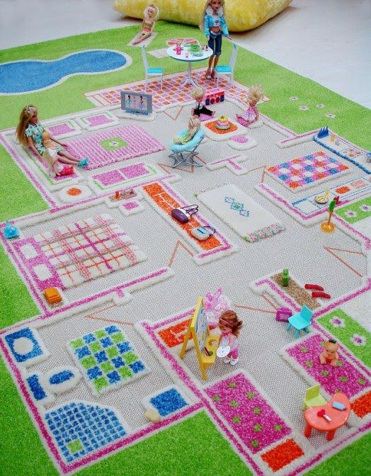 Safe Playing Family Themed Interactive Play Rug For Kids Playroom