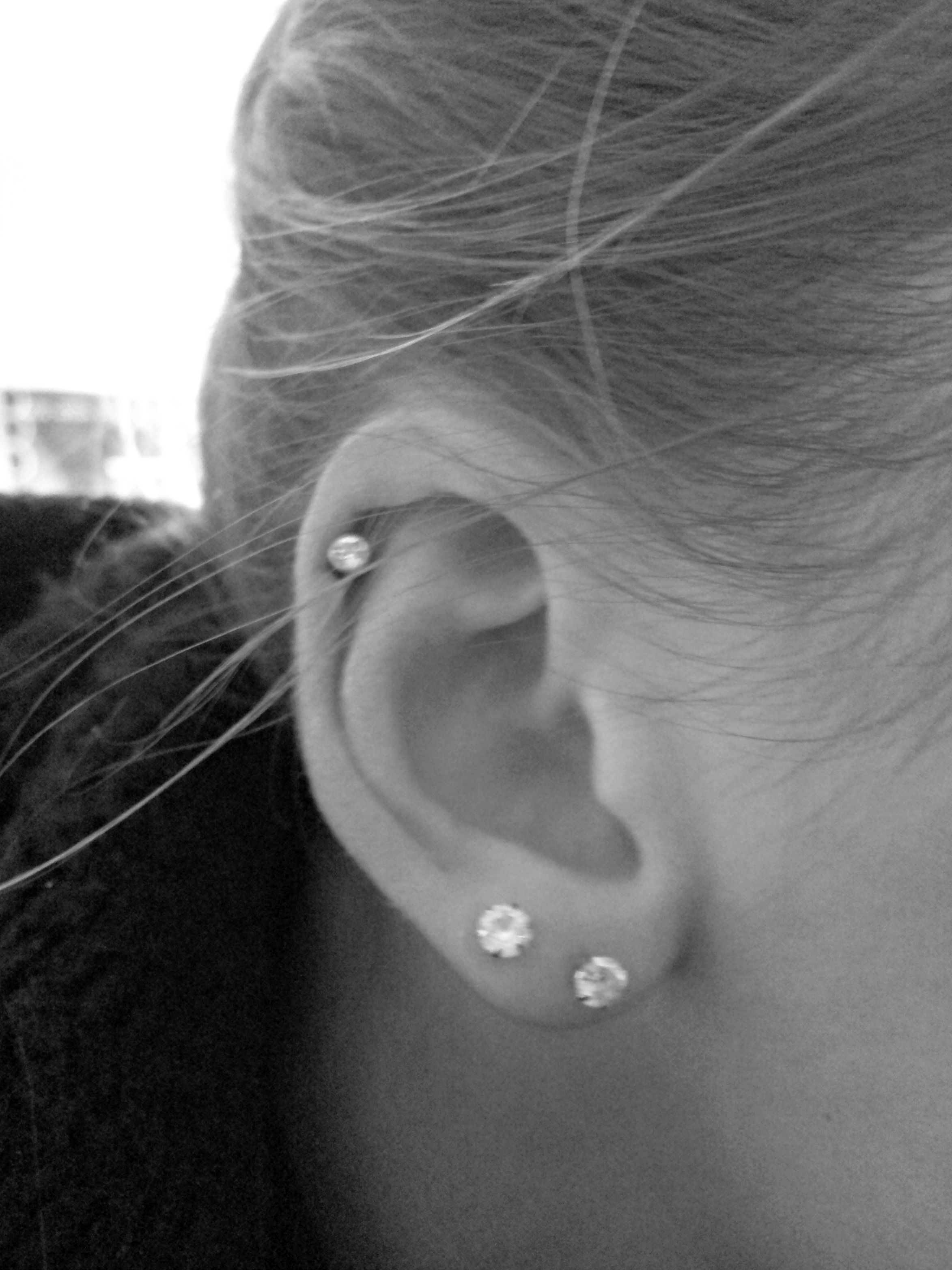 My New Cartilage Piercing :)
