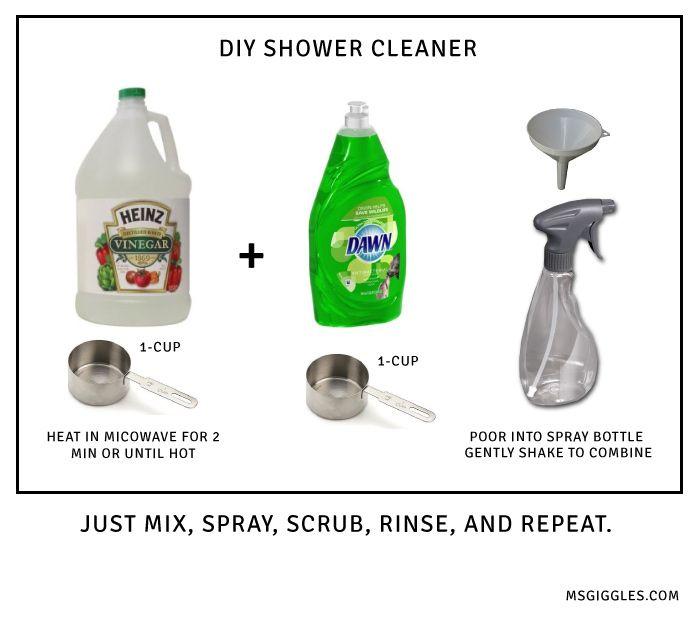 Diy Bathroom And Shower Cleaner Ms Giggles Shower Cleaner Cleaning Hacks Cleaning
