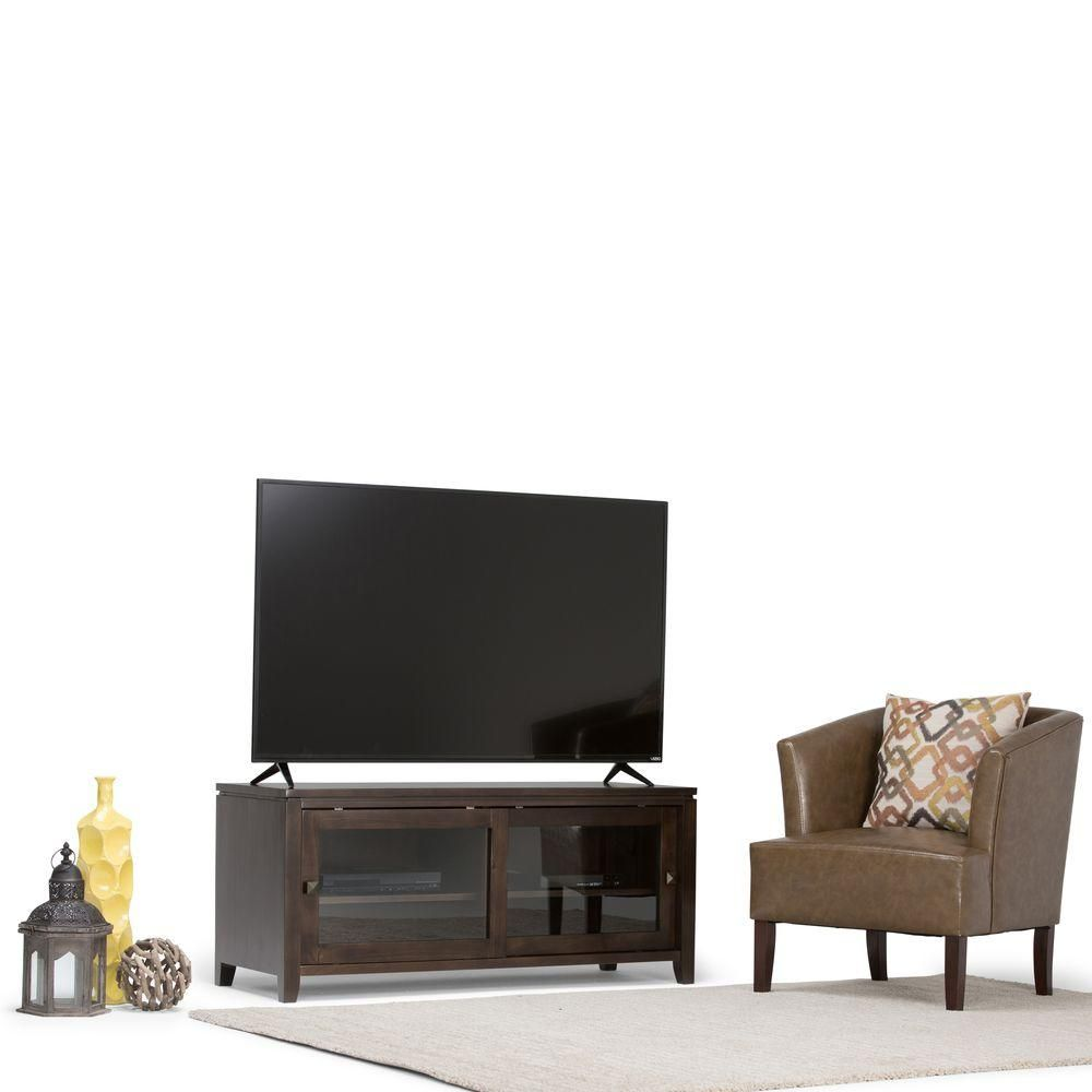 Cosmopolitan coffee brown storage entertainment center coffee brown
