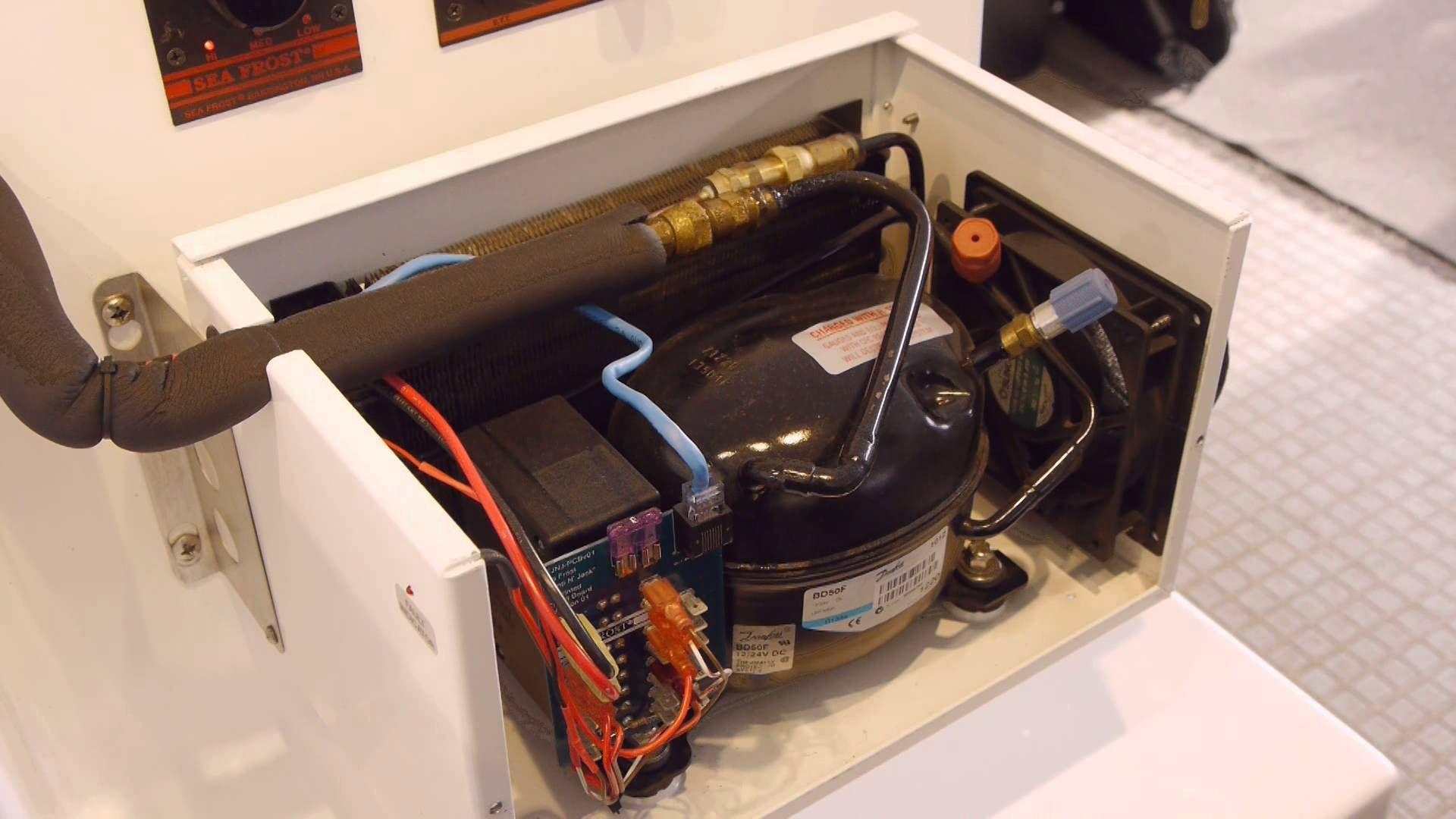 Seafrost 12 Volt Bd Marine Refrigeration Systems Bar Sink Under Counter Fridge Boat Building
