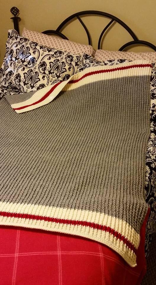 work sock inspired throw crochet blanket size 50 x 60 my