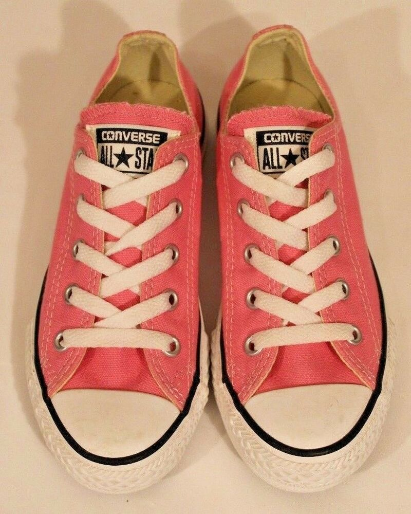 e2abc374 Converse Chuck Taylor All✮Stars Low-Tops Fuchsia All Over Youth Size 13 Girl  EUC #Converse #Casual