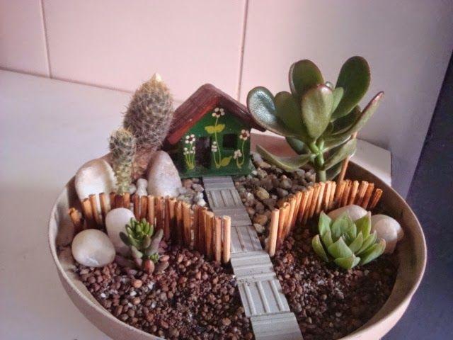 mini jardim cactos suculentas - Pesquisa Google Ideias ...
