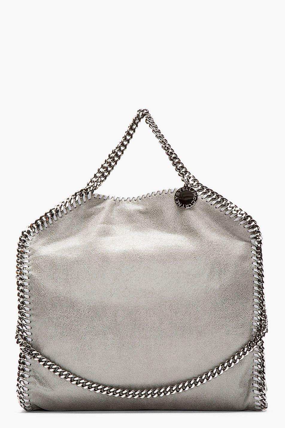 beda5e687fbf Stella Mccartney Light Grey Shaggy Deer Fold Over Falabella Bag ...