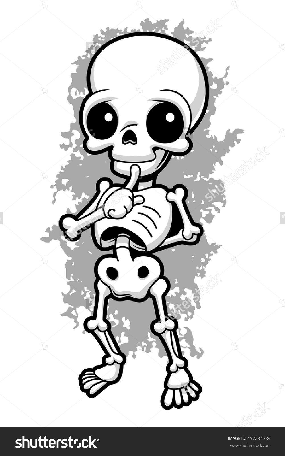 stock vector cartoon cute human skeleton 457234789 jpg jpeg image