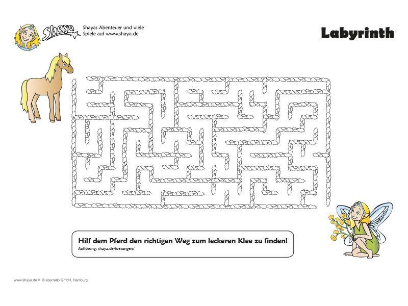 Kniffliges Labyrinth für Kinder. #kids #printable #rätsel   Shaya ...