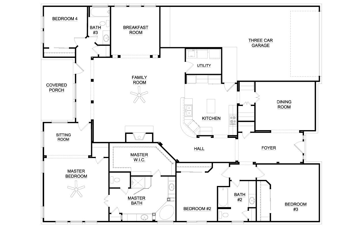 6 bedroom single story house plans australia arts house - Single story 4 bedroom modern house plans ...