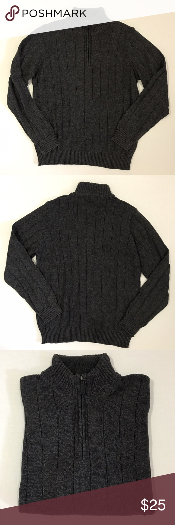 [David Taylor] men's gray 1/2 zip-up sweater L [David Taylor] men's gray 1/2 zip-up sweater L •🆕listing •new without tags condition •dark gray color •material 100% cotton •offers and bundles welcomed using the features David Taylor Sweaters Zip Up
