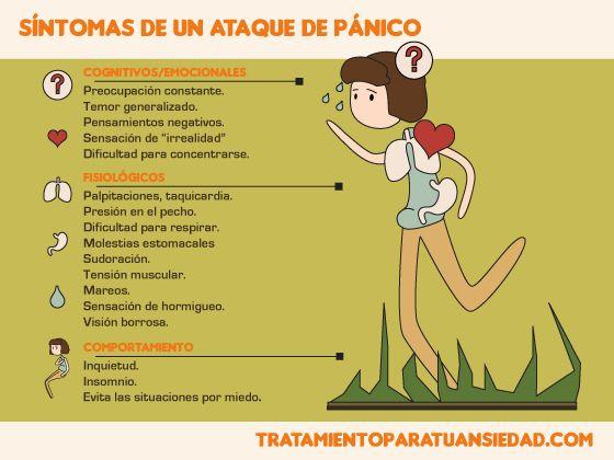 ataque de pánico síntomas psicológicos de diabetes