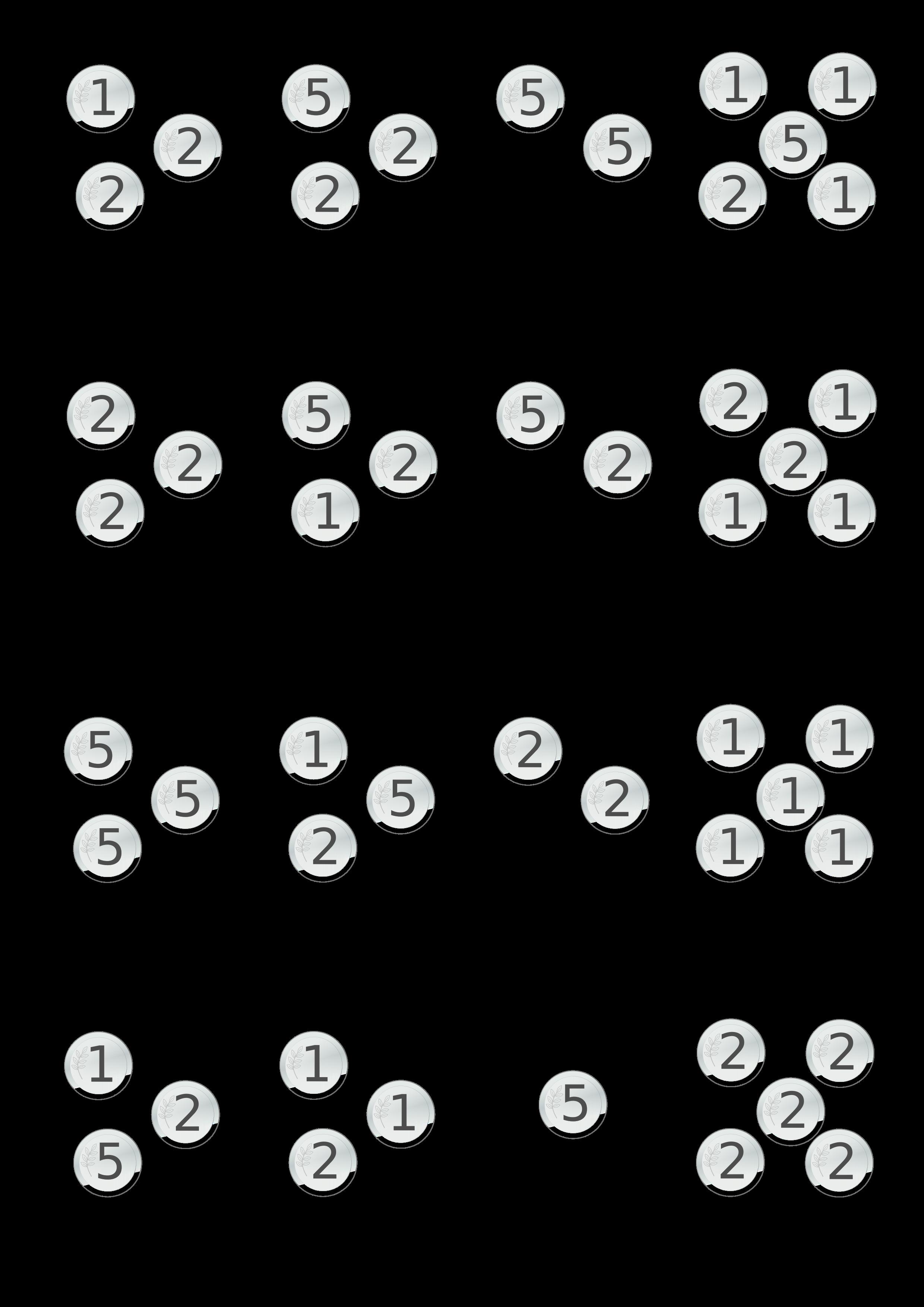 Münzwerte addieren, im Zahlenraum bis 15   Übungsblätter Mathematik ...