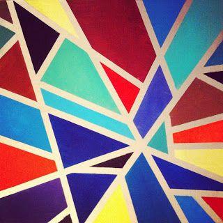 Die besten 25 geometrische malerei ideen auf pinterest geometrische kunst einfache - Geometrische wandbilder ...