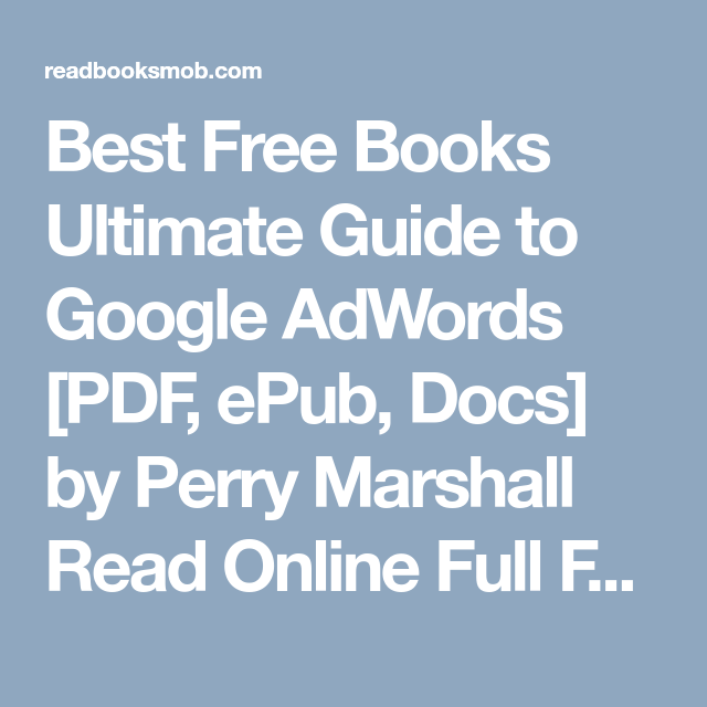 best free books ultimate guide to google adwords pdf epub docs rh pinterest com Google Analytics Google AdWords Examples