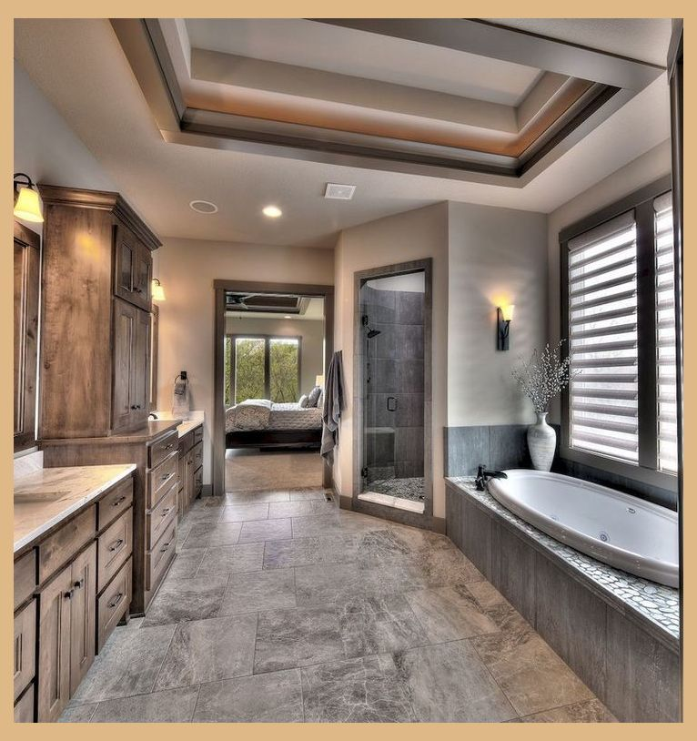 53 Amazing Modern Farmhouse Small Master Bathroom Ideas Luxurious Master Bathroom Farmhouse Master Bathroom Bathroom Remodel Master Bathroom Interior Design
