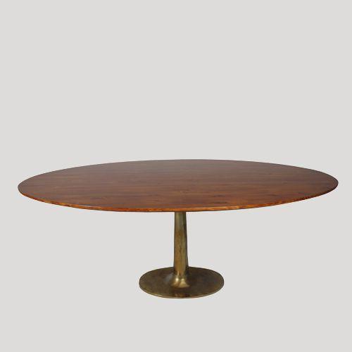 mesa comedor ovalada mesa madera restaurada mesa de comedor ...