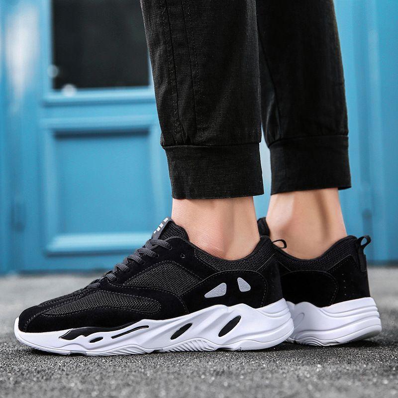 wholesale dealer 7d84a c8f88 Aliexpress.com  Comprar Papá de la vendimia Hombres zapatos 2018 kanye west  moda luz