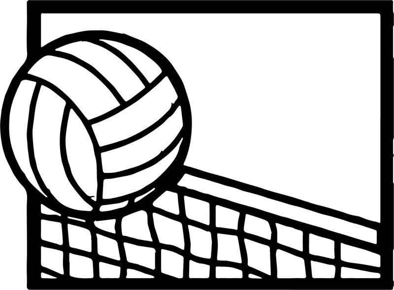 Volleyball Cartoon Net Coloring Page Coloring Pages Cartoon Net Volleyball Pictures
