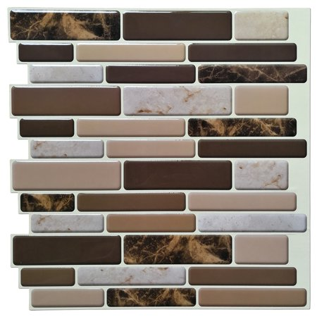 Art3d 12 X 12 Peel And Stick Tiles For Kitchen Backsplash Self Adhesive Wall Tile 3d Wall Sticker Walmart Com Vinyl Backsplash Stick Tile Backsplash Tile Backsplash