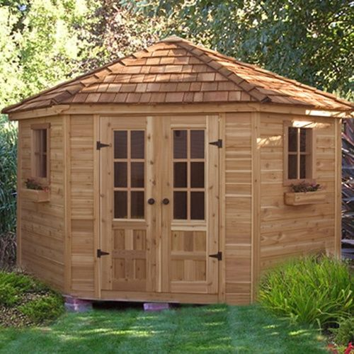 outdoor living today pen99 penthouse 9 x 9 ft garden shed storage sheds at
