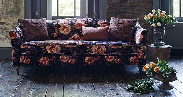 Statement fabrics are a fantastic way to create a feature #ParkerKnoll