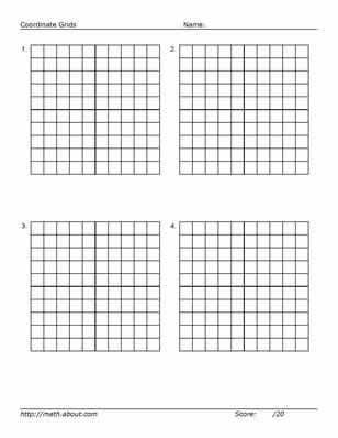 Practice Your Graphing With These Printables Algebra lessons - printable grid paper template