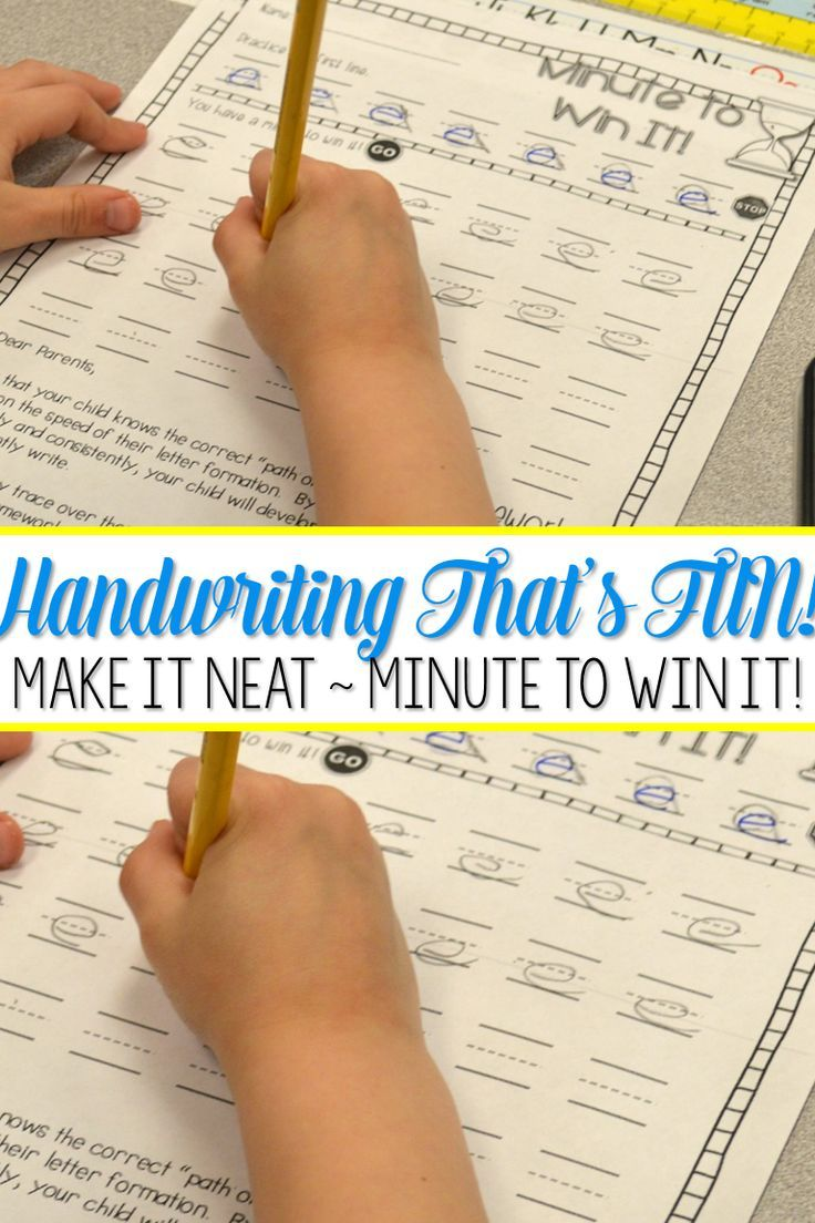 Handwriting - Make It Neat! Handwriting Practice, Instruction, and ...