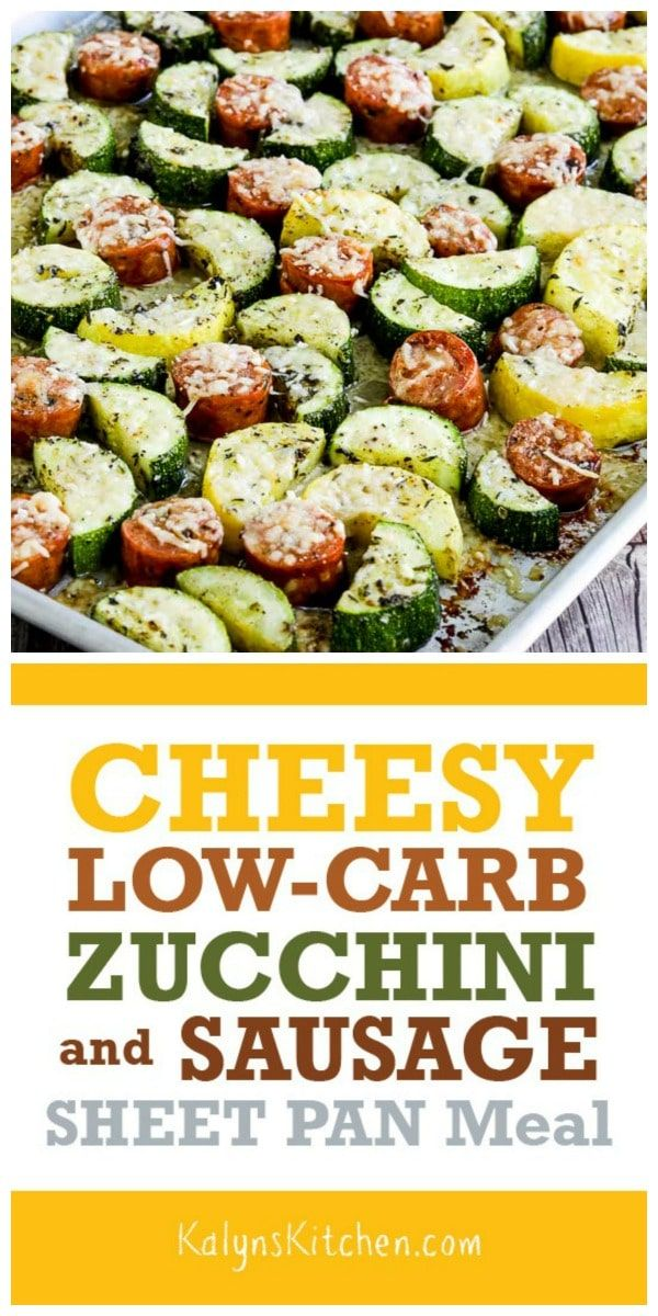 Cheesy Low-Carb Zucchini and Sausage Sheet Pan Meal (Video)