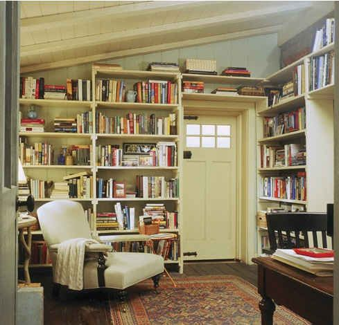 Bookish cottage (I love this so much, I'm pinning it twice!)
