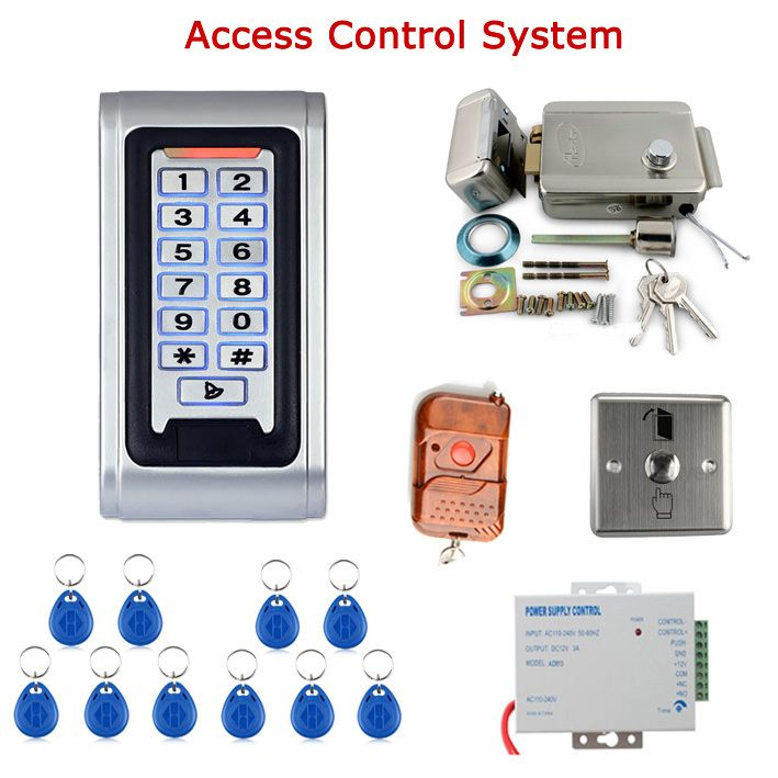 Door Access Control Controller Security System Kit Rfid Card Password Keypad Remote Control Electric Door Lock Ex Access Control Security System Remote Control