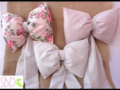 Fiocco di nascita in stoffa tutorial cucito creativo for Idee creative uncinetto