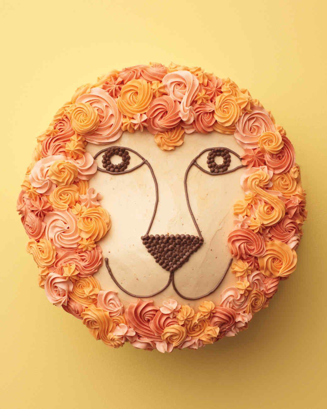 Lion cake recipe lion cakes animal cakes cupcake cakes