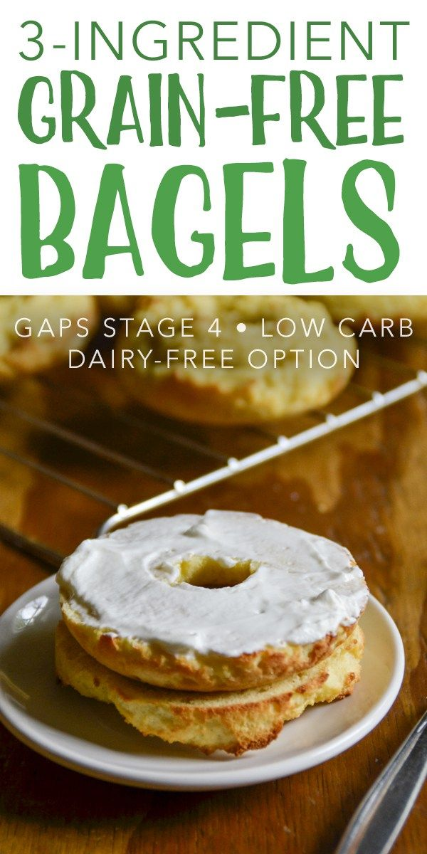 3 Ingredient Grain Free Bagels Gaps Intro Low Carb Low Carb