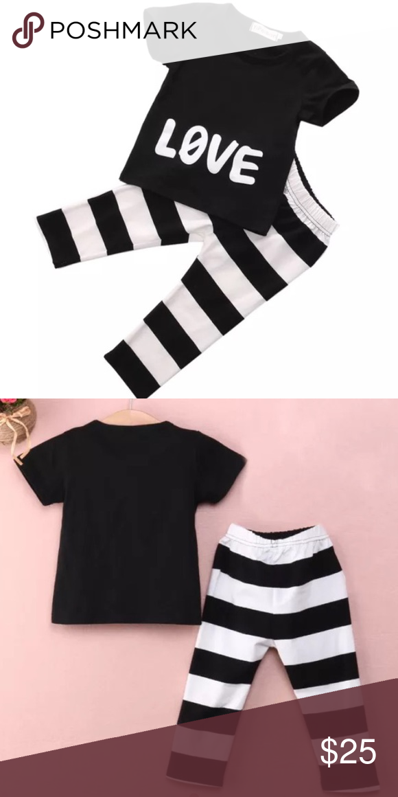 LOVE outfit Super cute 100% brand new and high quality Soft and breathable cotton fabric Comfortable to touch and wear patterns cute and fashionable Great for casual,party, birthday and evening Occasions, Material: 90% Cotton and 10% Polyester Size: for 2T Matching Sets
