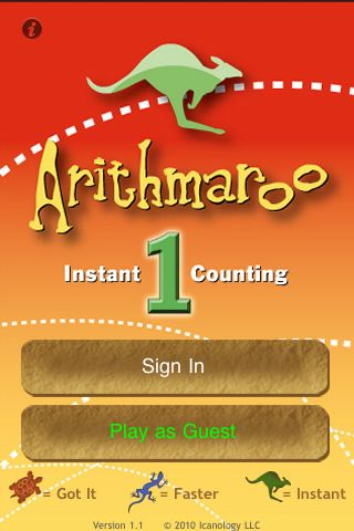 Arithmaroo-$199-Math App- Counting associating numbers with