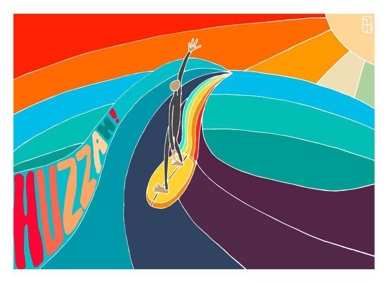 surf art by Huzzah