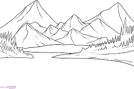 Pin By Zeta Akoto On Pixelation Inspiration 1 Mountain Drawing Landscape Sketch Landscape Drawing Easy