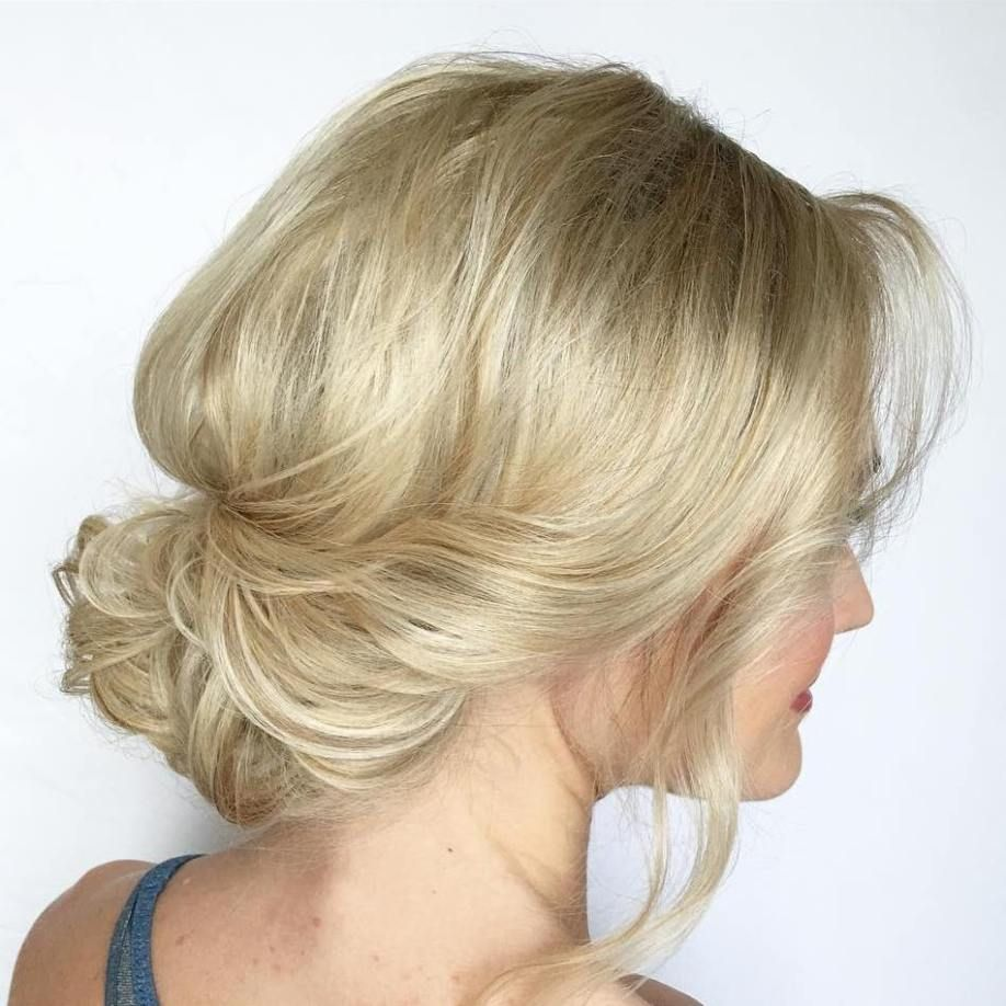 Messy Low Updo For Shorter Hair