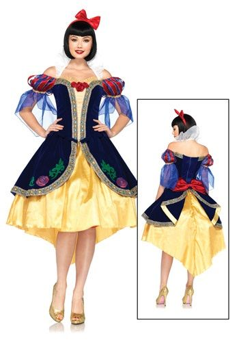 5ba3be4a5f2 Get a unique and luxurious version of a classic Disney Princess dress with  this Women s Disney Deluxe Snow White Costume. A licensed dress from Leg  Avenue