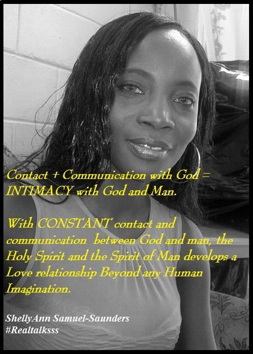 There is no Love that can compare to being in Love with and being Loved by God. There is no intimacy that comes close to being intimate with Jesus Christ the Sovereign and Incarnate King of King and Lord of Lord.....the Lord of Host. But that type of Love and Intimacy requires CONSTANT Contact and Communication with God and it depends largely on YOU. https://www.facebook.com/photo.php?fbid=1568908786661365&set=a.1493618487523729.1073741883.100006267755052&type=3&theater