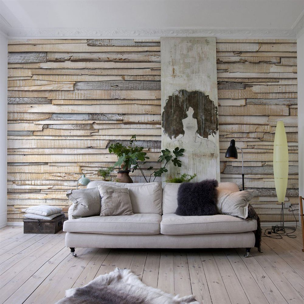 Lowes Wall Murals shop provincial wallcoverings 8-920 whitewashed wood mural at
