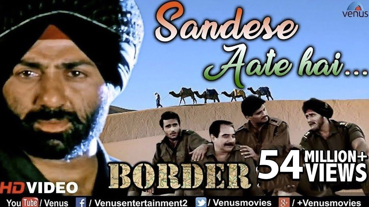Sandese Aate Hai Border Taza Lyrics In 2020 Song Hindi Picture Song Bollywood Music Videos
