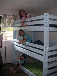 Triple Bunk Bed Plans Quarto Das Criancas Pinterest Triple