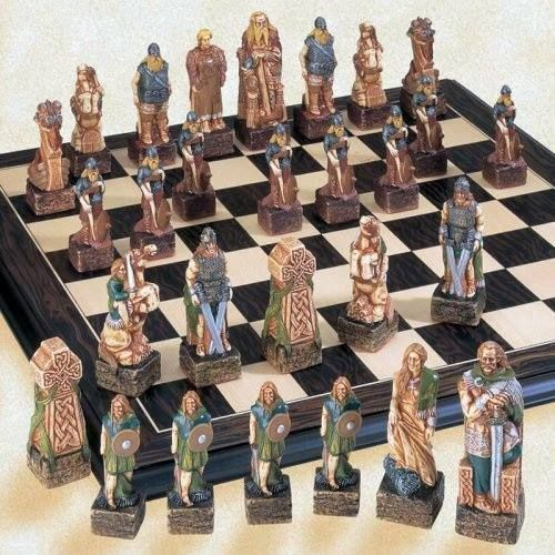Celts Vs Vikings Chess Set Viking Chess Themed Chess Sets Chess Set