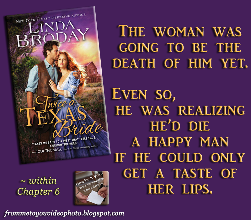 TWICE A TEXAS BRIDE by Linda Broday -- Read my #bookreview here: http://frommetoyouvideophoto.blogspot.com/2016/06/spreading-word-bachelors-of-battle.html  #teaser #meme #bookteaser #bookblogger #bookblog #booklover #bookworm #booklife #booklove #books #romance #romancenovels #historical #historicalnovel #historicalromance #oldwest #outwest #cowboys #cowboy #rancher #saloonowner #orphan #ontherun #outlaw #cook #BachelorsOfBattleCreek #LindaBroday #Sourcebooks #SourcebooksCasablanca